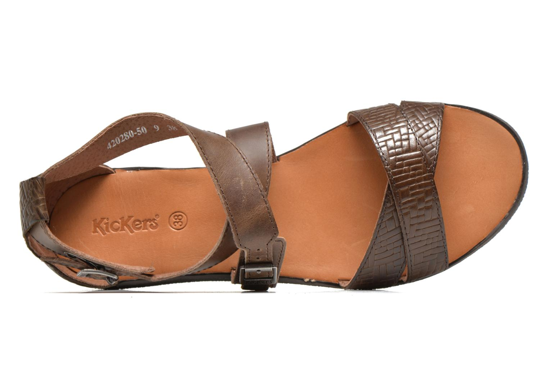 Sandales et nu-pieds Kickers Hycross Marron vue gauche