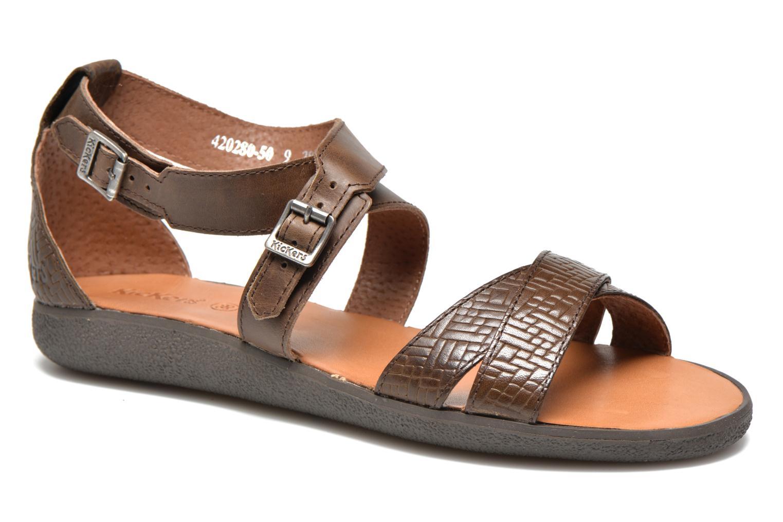 Sandales et nu-pieds Kickers Hycross Marron vue détail/paire