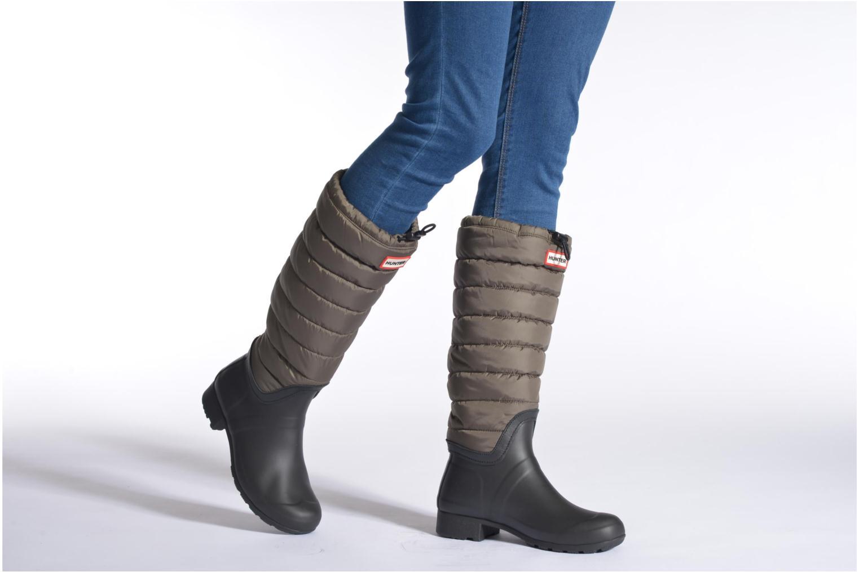 Bottes Hunter Original quilted Leg Vert vue bas / vue portée sac