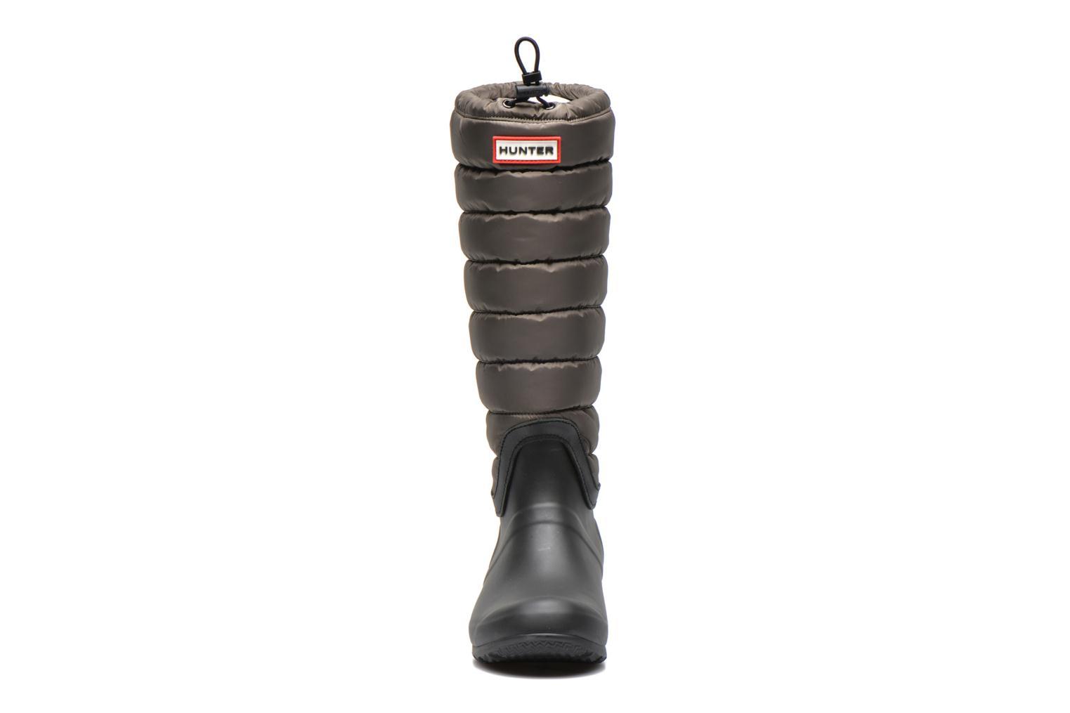 Stiefel Hunter Original quilted Leg grün schuhe getragen