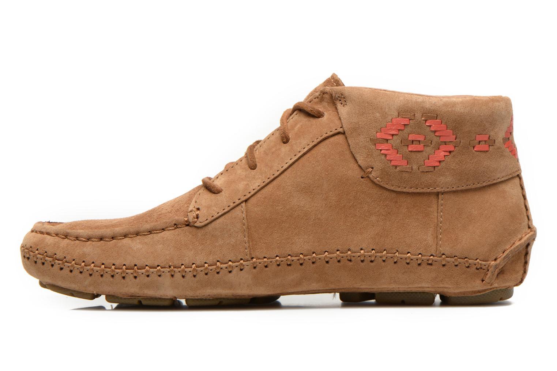 Chaussures à lacets UGG Chaunce Rustic Weave Marron vue face