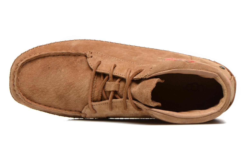 Chaussures à lacets UGG Chaunce Rustic Weave Marron vue gauche