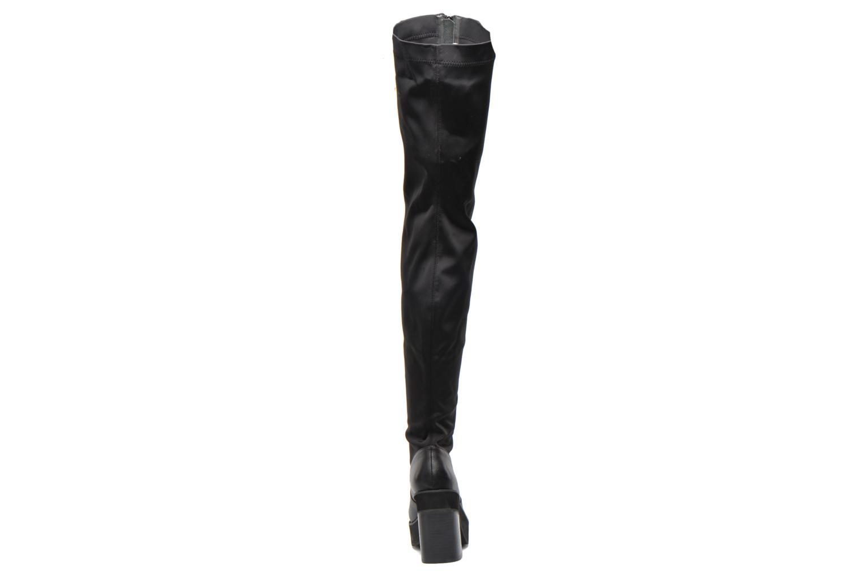 Infinity Black leather/lycra