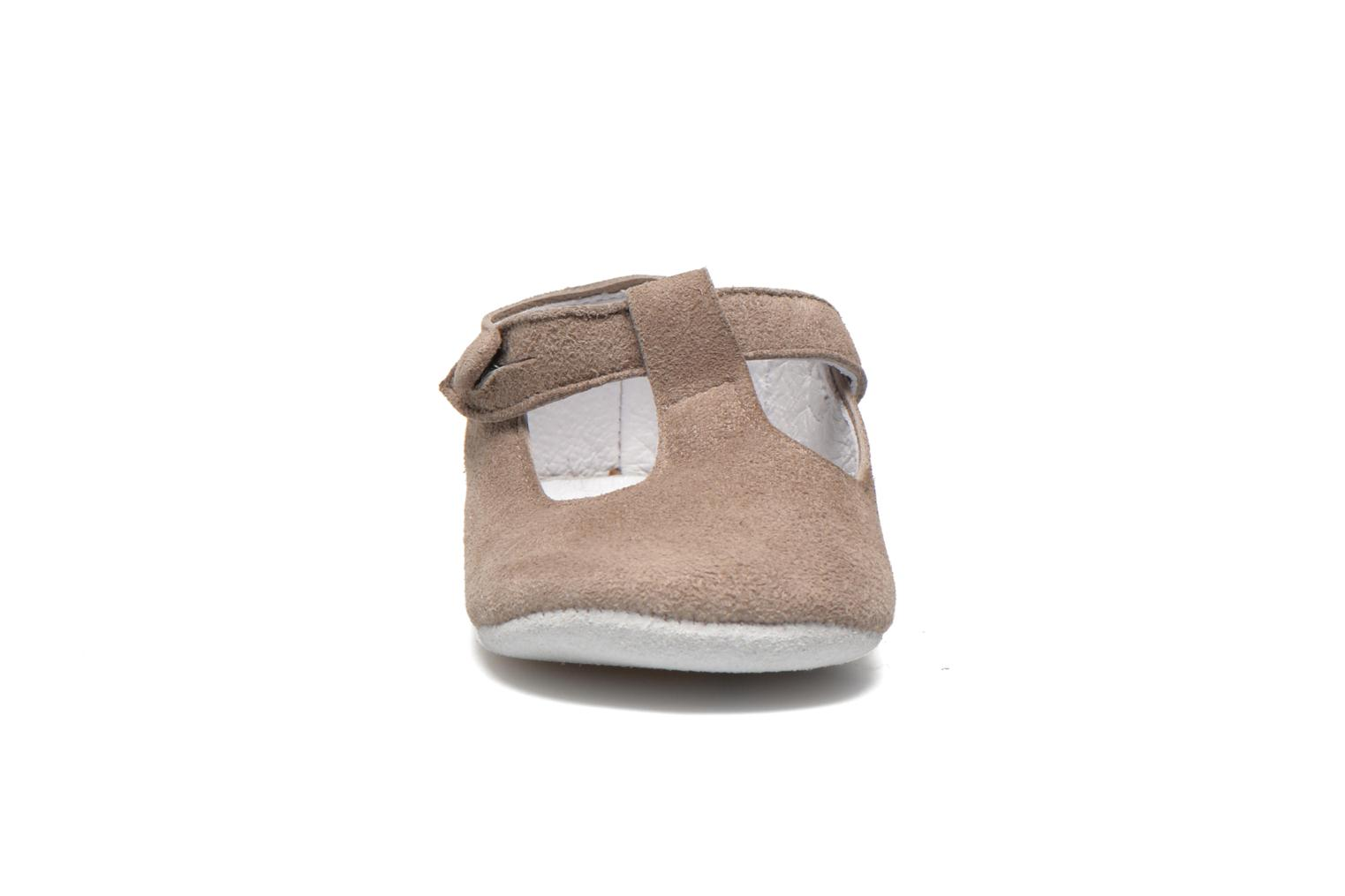 Chaussons Start Rite Baby Edward Gris vue portées chaussures