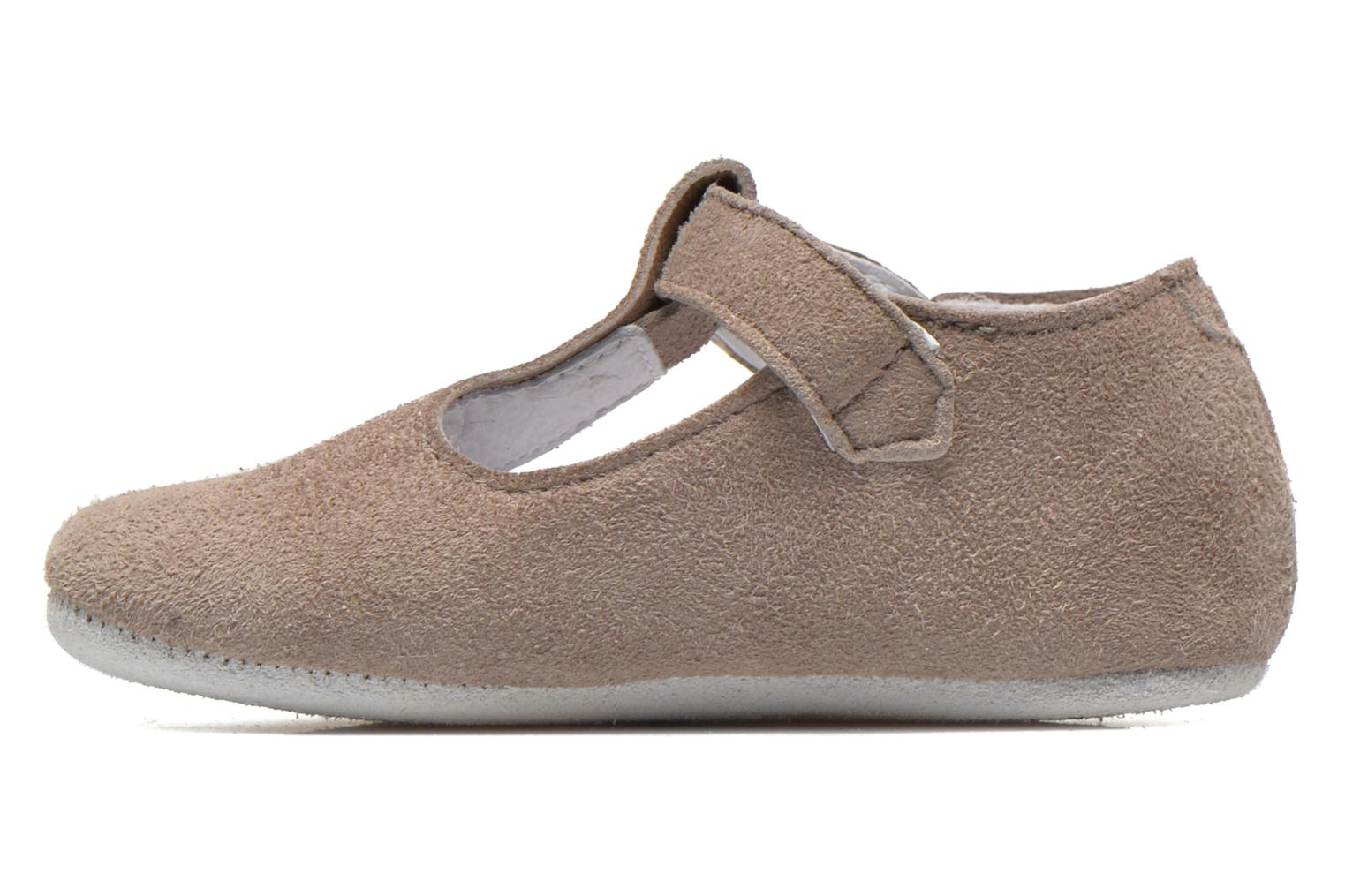 Chaussons Start Rite Baby Edward Gris vue face