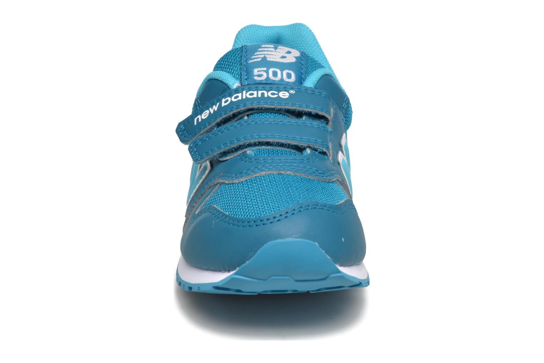 Baskets New Balance KV500 Bleu vue portées chaussures