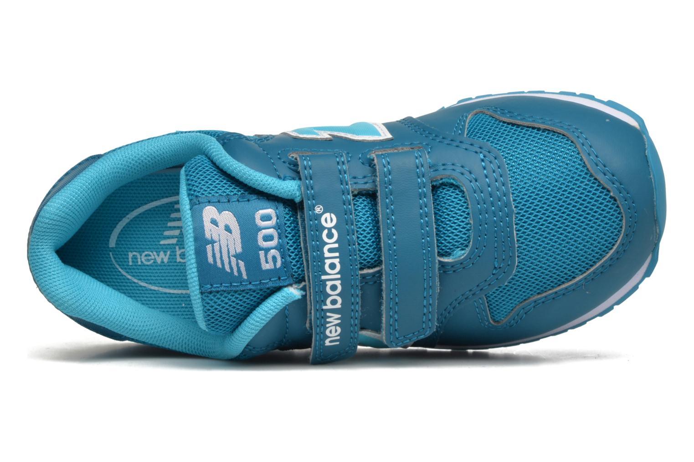 Baskets New Balance KV500 Bleu vue gauche