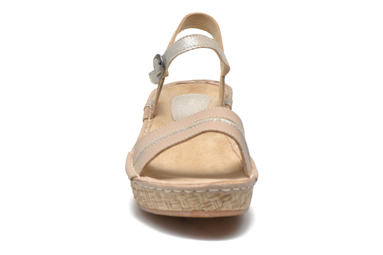 Sandales et nu-pieds TBS Alican Beige vue portées chaussures
