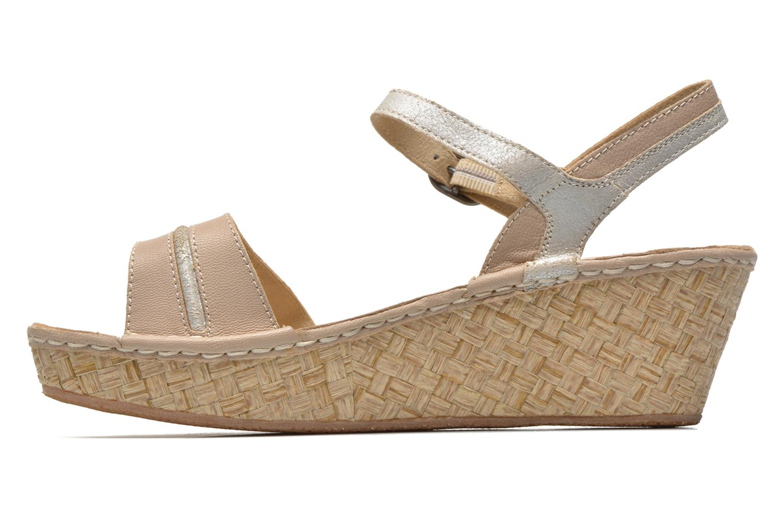 Sandals TBS Alican Beige front view