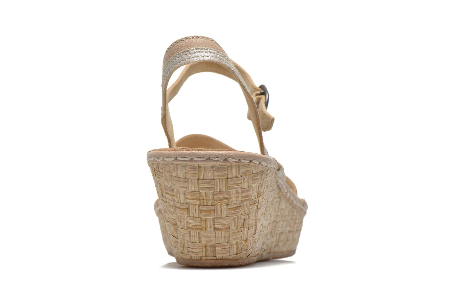 Sandals TBS Alican Beige view from the right