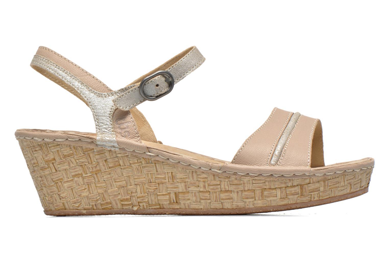 Sandales et nu-pieds TBS Alican Beige vue derrière