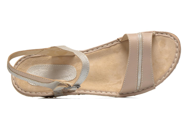 Sandales et nu-pieds TBS Alican Beige vue gauche