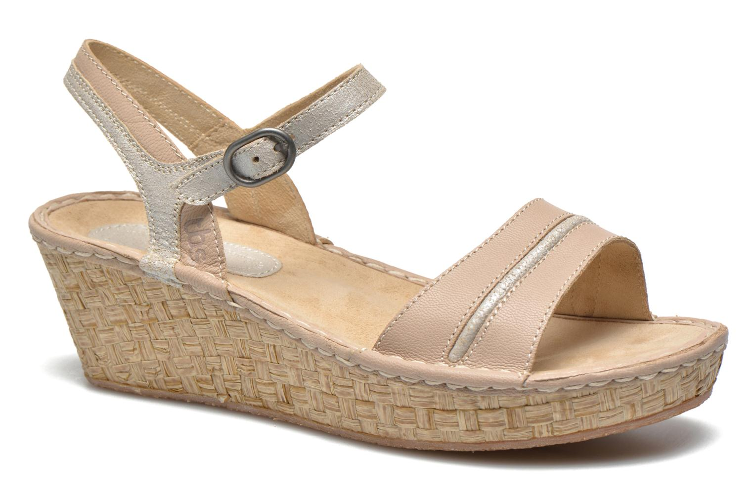 Sandals TBS Alican Beige detailed view/ Pair view