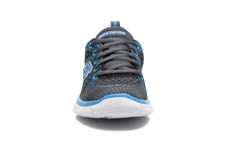 Baskets Skechers Flex Advantage Paybacks Bleu vue portées chaussures