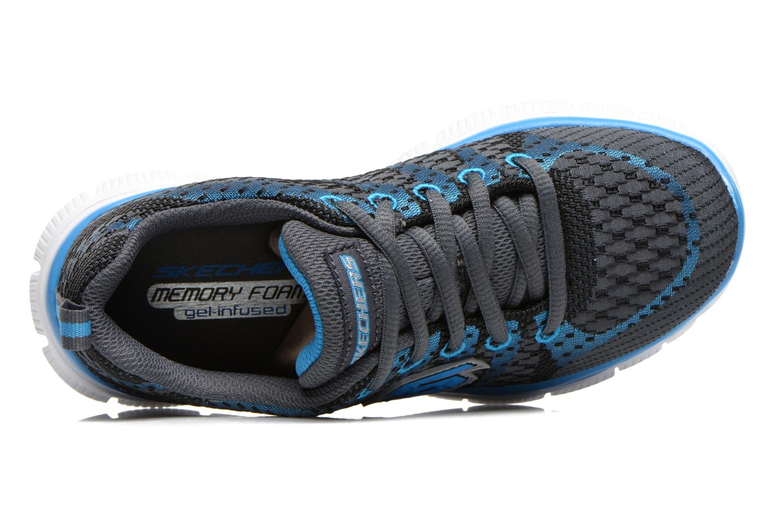 Trainers Skechers Flex Advantage Paybacks Blue view from the left