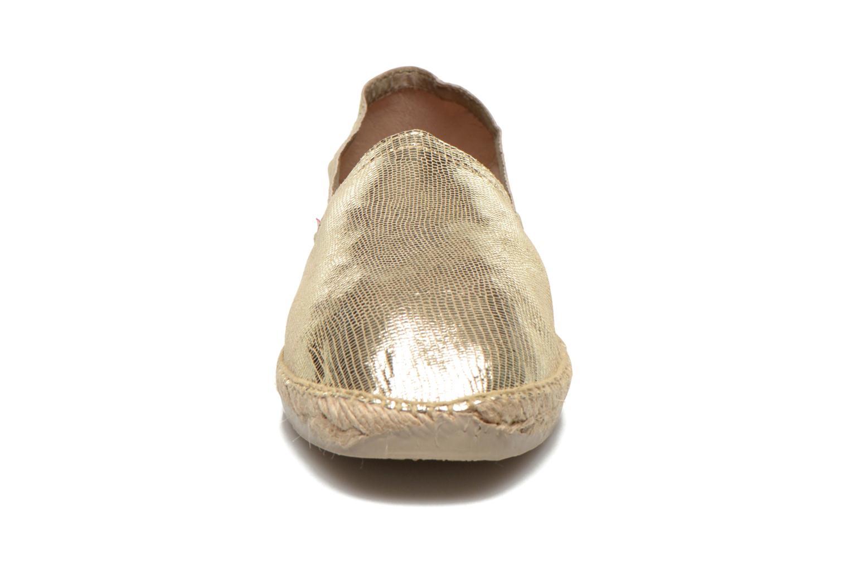 Espadrilles Pare Gabia VP Cuir Or et bronze vue portées chaussures