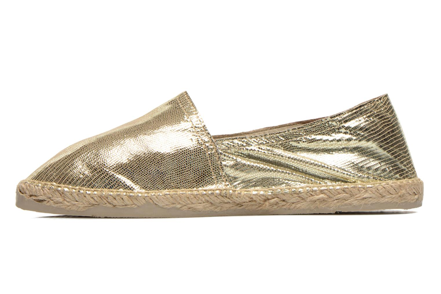 Espadrilles Pare Gabia VP Cuir Bronze and Gold front view