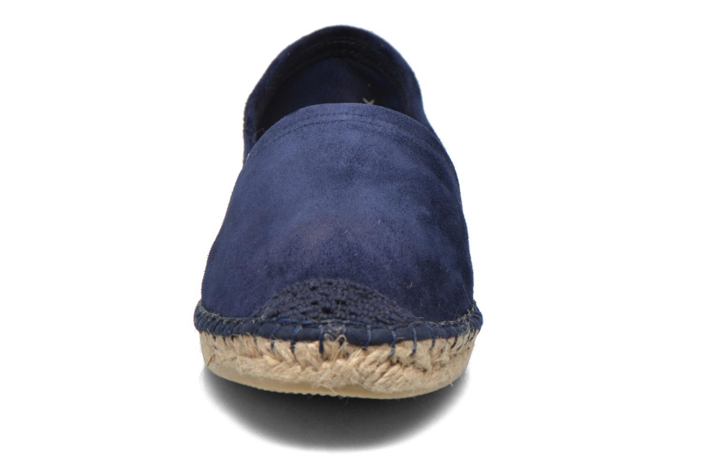 Espadrilles Pare Gabia VP Cuir Bleu vue portées chaussures
