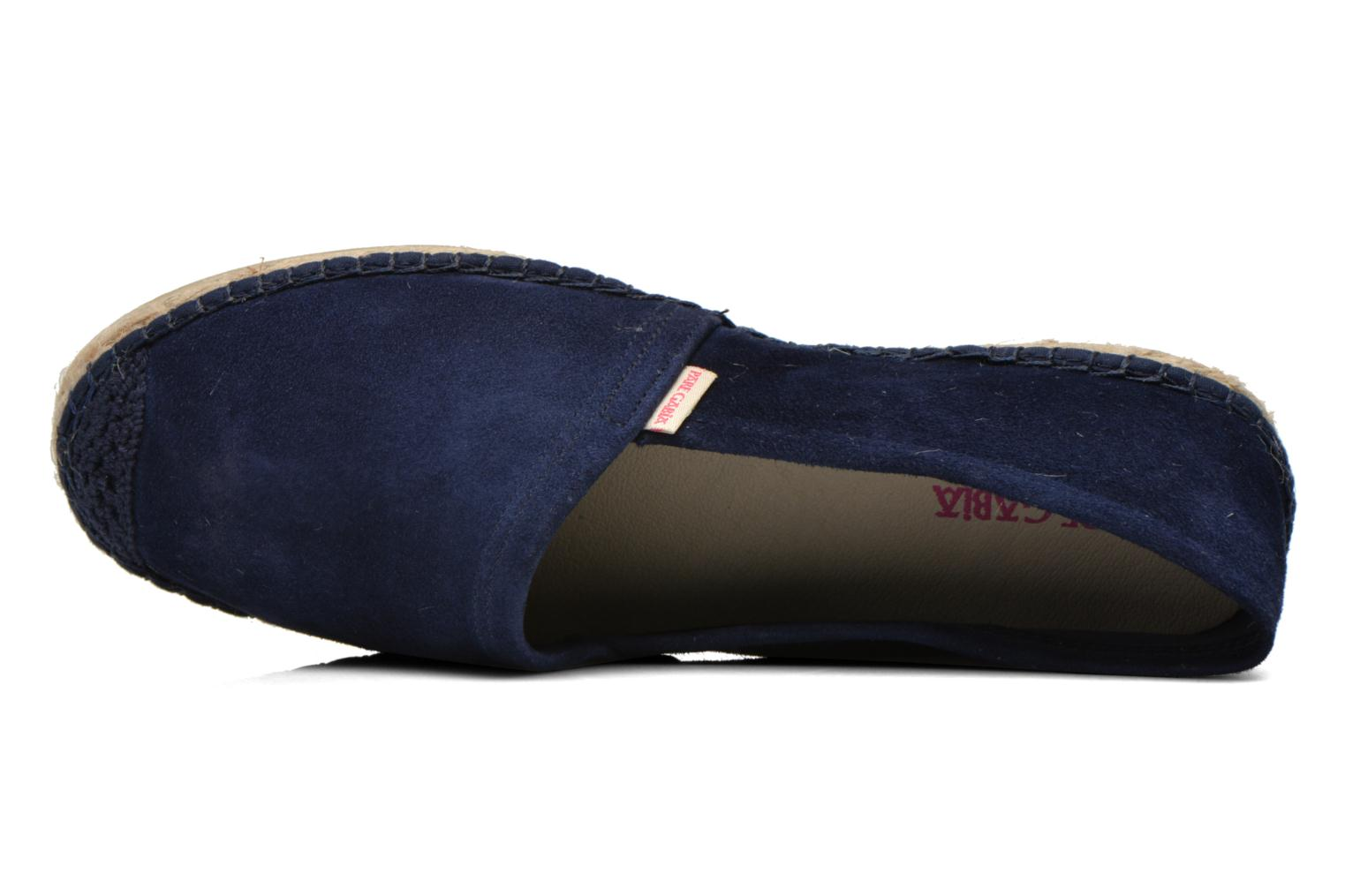 Espadrilles Pare Gabia VP Cuir Blue view from the left