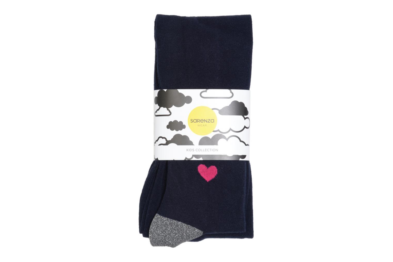Chaussettes et collants Sarenza Wear Collant coeur Bleu vue détail/paire