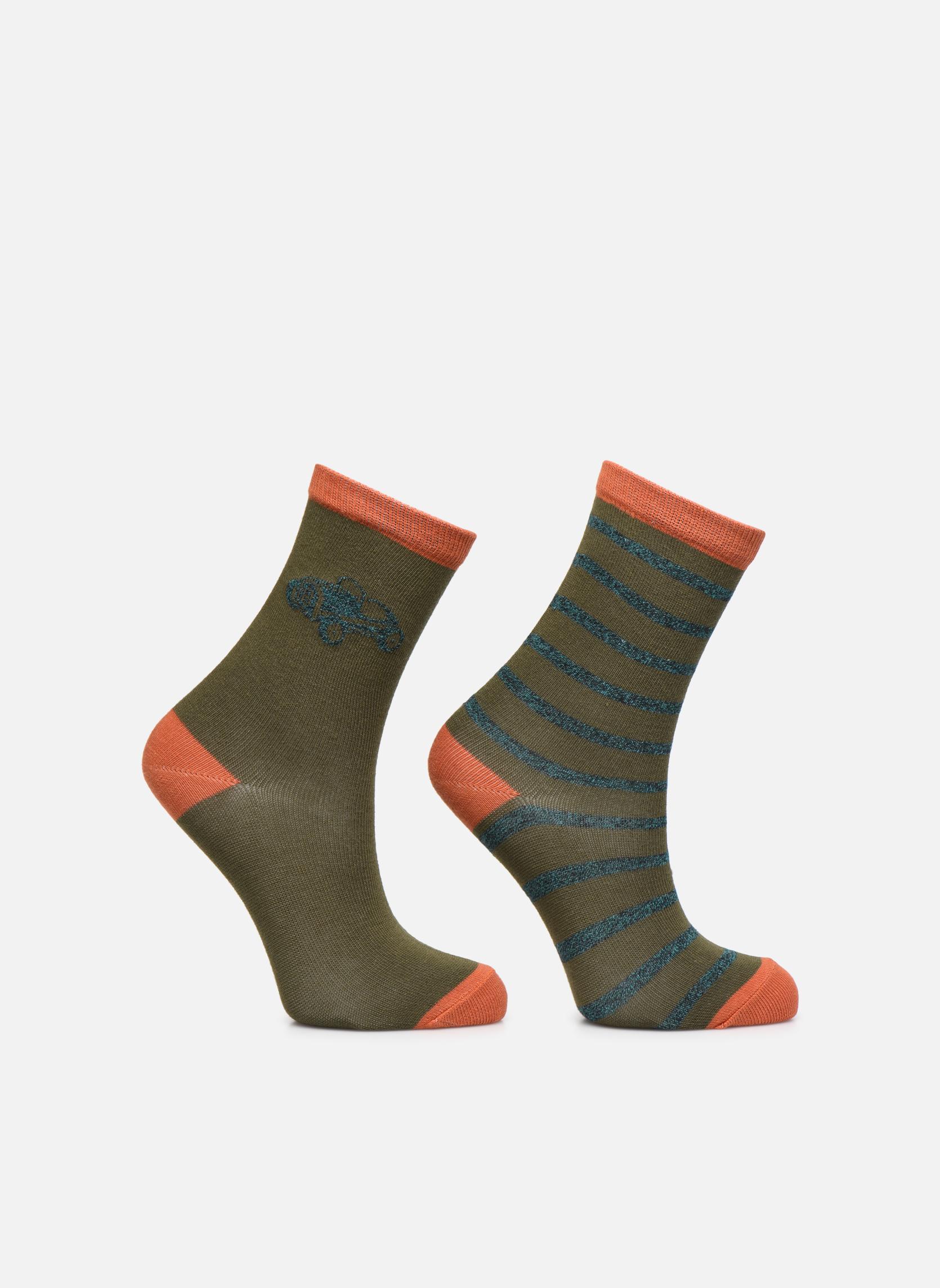 Socks Fantaisie Pack of 2 Kaki