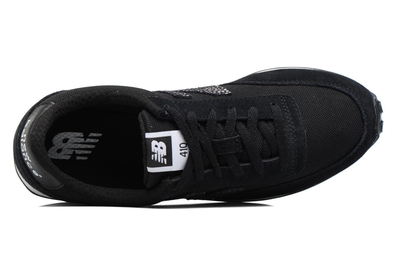 Sneaker New Balance WL410 schwarz ansicht von links