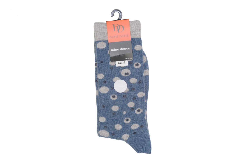 Chaussettes et collants Doré Doré Chaussettes POIS Bleu vue droite