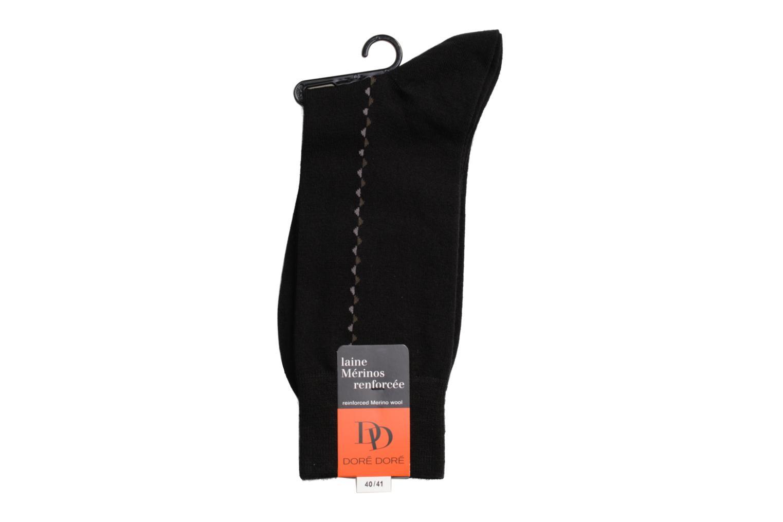 Chaussettes et collants Doré Doré Chaussettes BAGUETTE Noir vue droite