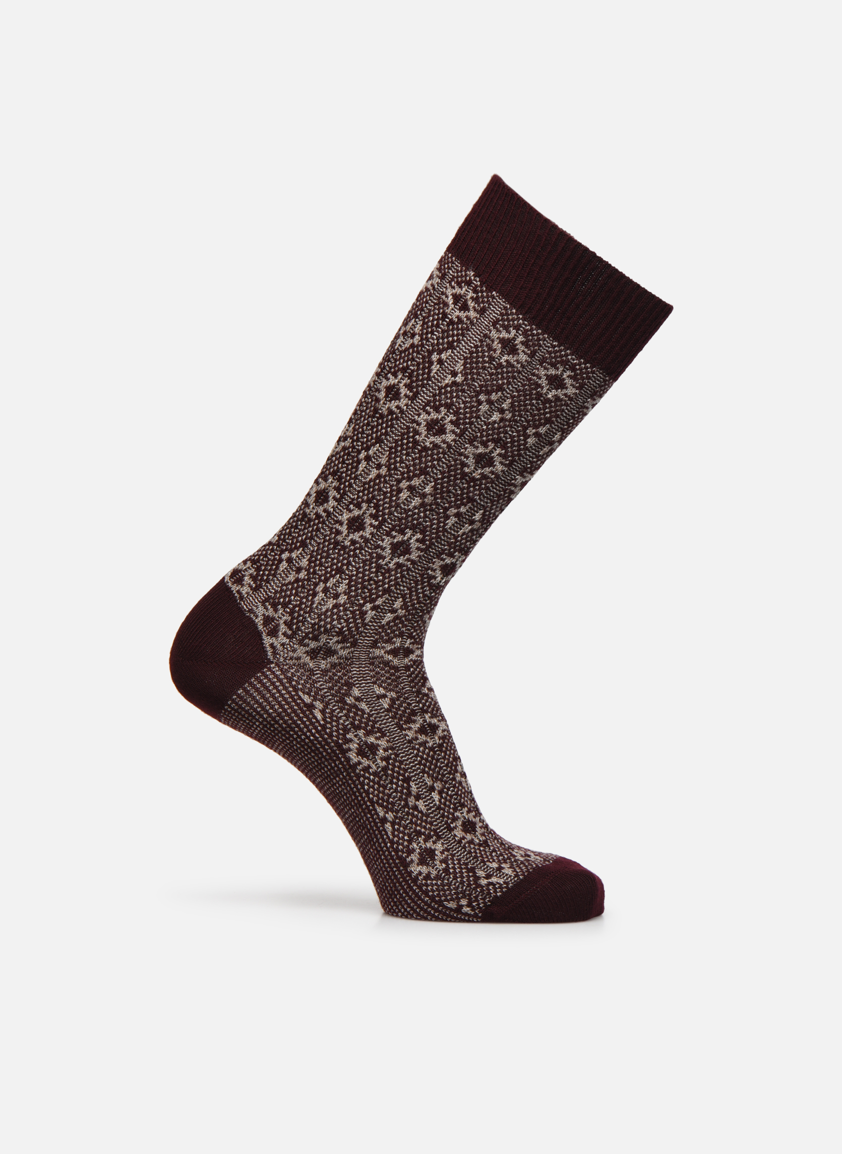 Socken NOBLESSE 052 - bordeaux