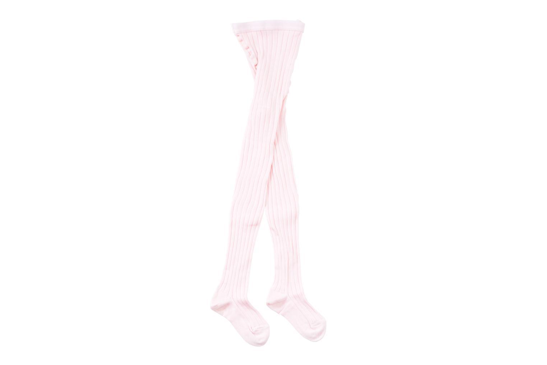 Chaussettes et collants Doré Doré Collant COTON CÔTE Rose vue portées chaussures
