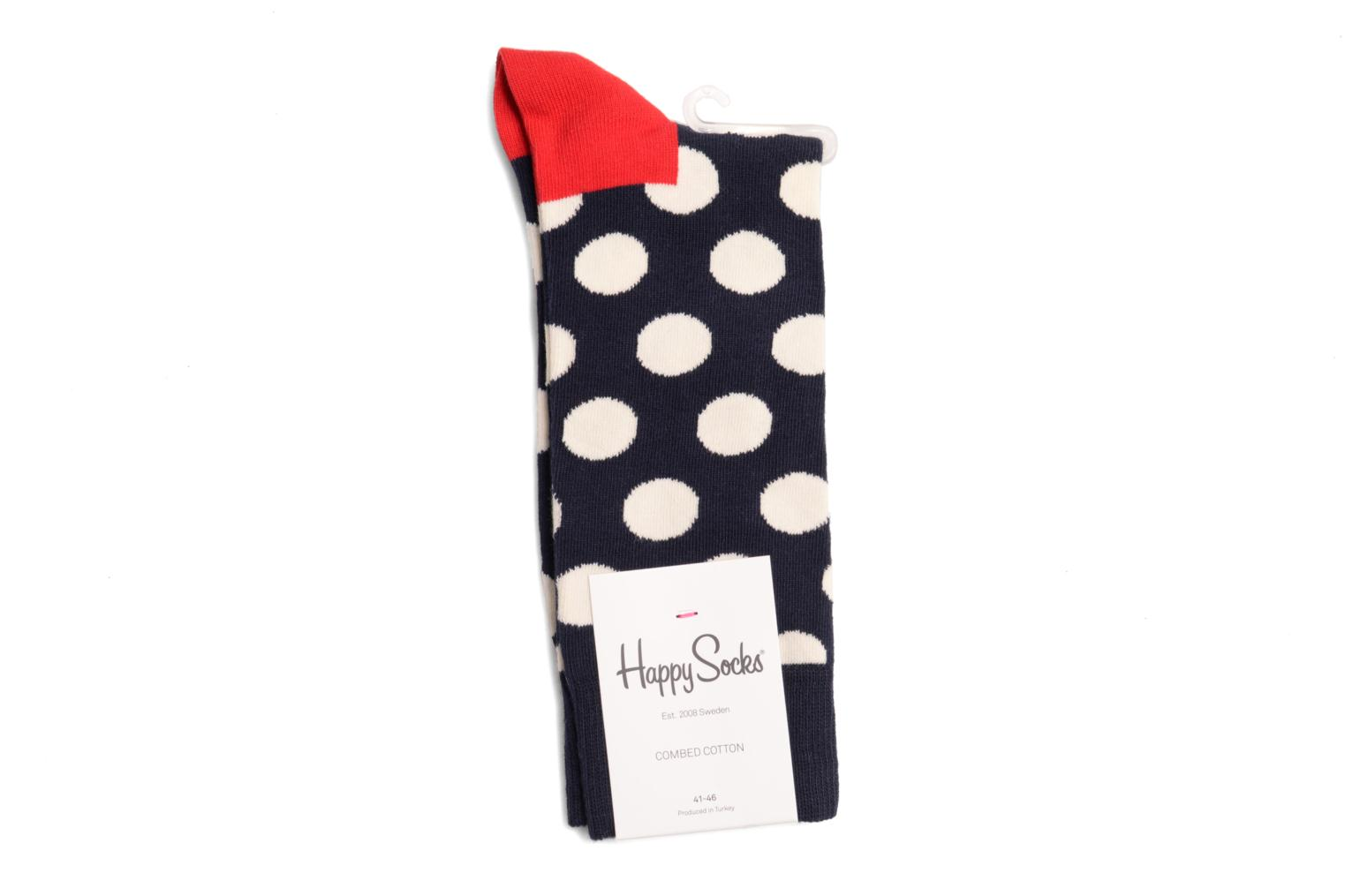 Socks BIG DOT Marine Rouge