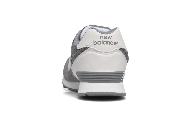 Baskets New Balance KL574 J Gris vue droite