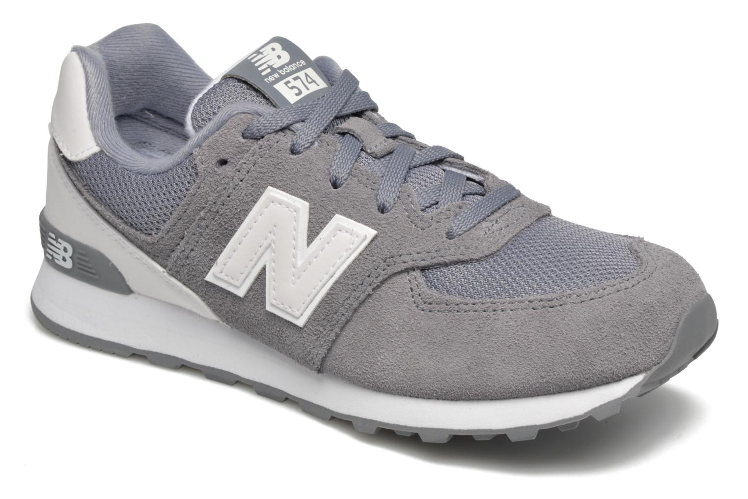Trainers New Balance KL574 J Grey detailed view/ Pair view