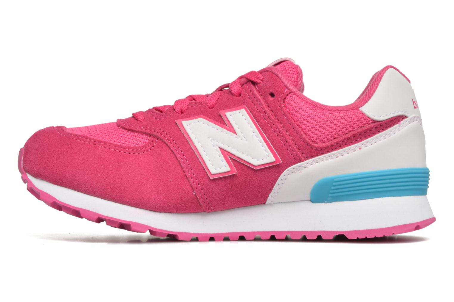 Baskets New Balance KL574 J Rose vue face
