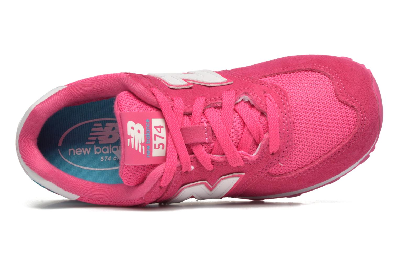 Baskets New Balance KL574 J Rose vue gauche
