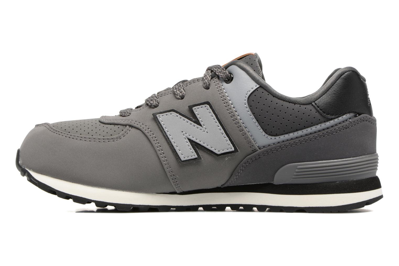 Sneaker New Balance KL574 J grau ansicht von vorne