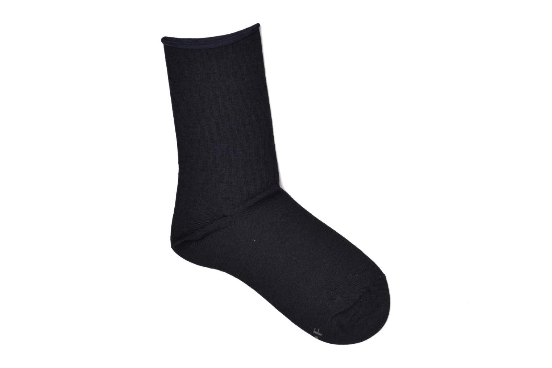 Socks & tights BLEUFORÊT Chaussettes laine fine Blue detailed view/ Pair view