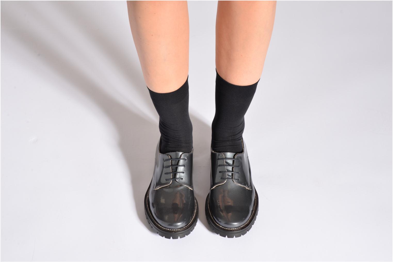 Chaussettes et collants Falke Chaussettes TOUCH Noir vue portées chaussures