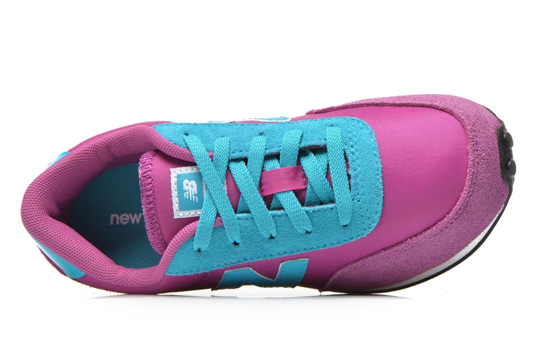 Sneaker New Balance KL410 J lila ansicht von links