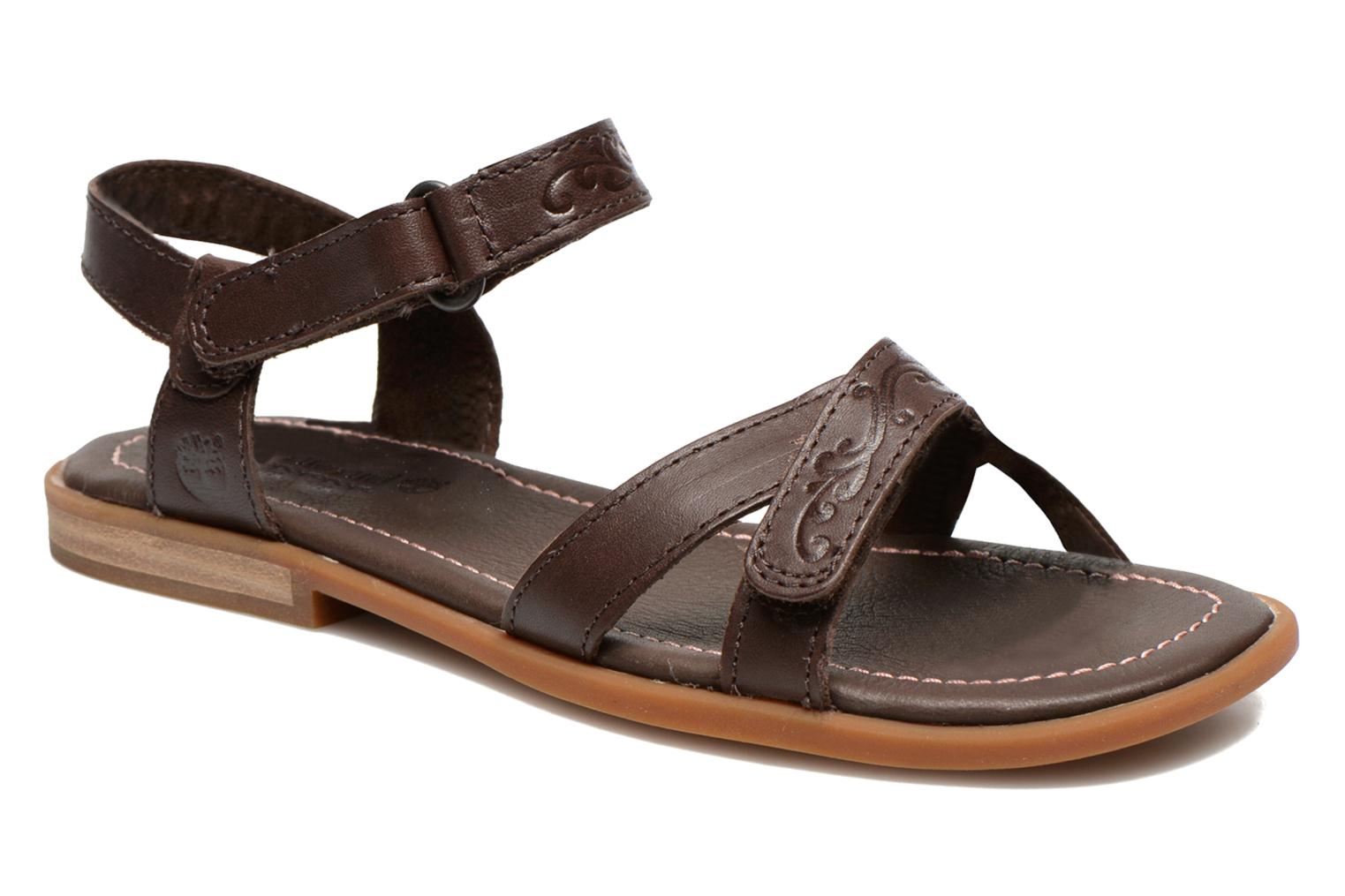 Earthkeepers Willowbrook Crossband Sandal Dark Brown