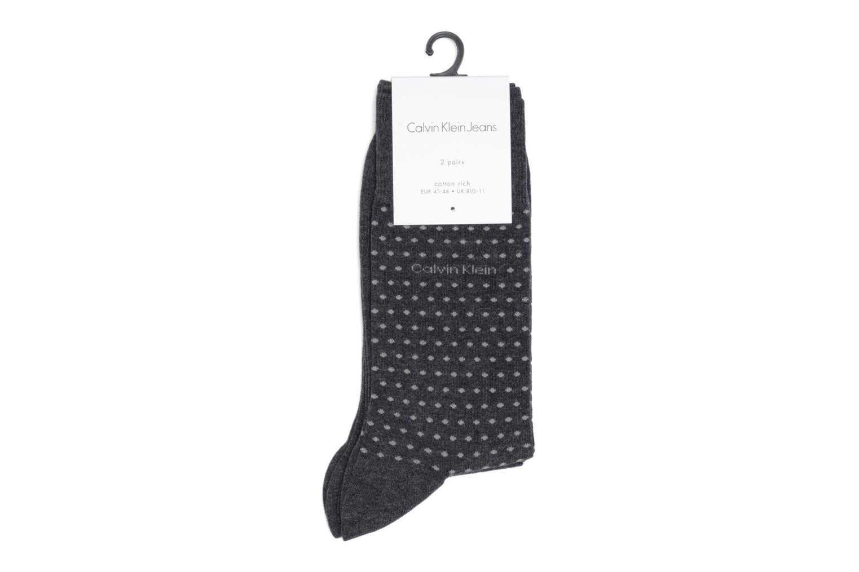 Chaussettes et collants Calvin Klein Chaussettes DOTS Pack de 2 Gris vue portées chaussures