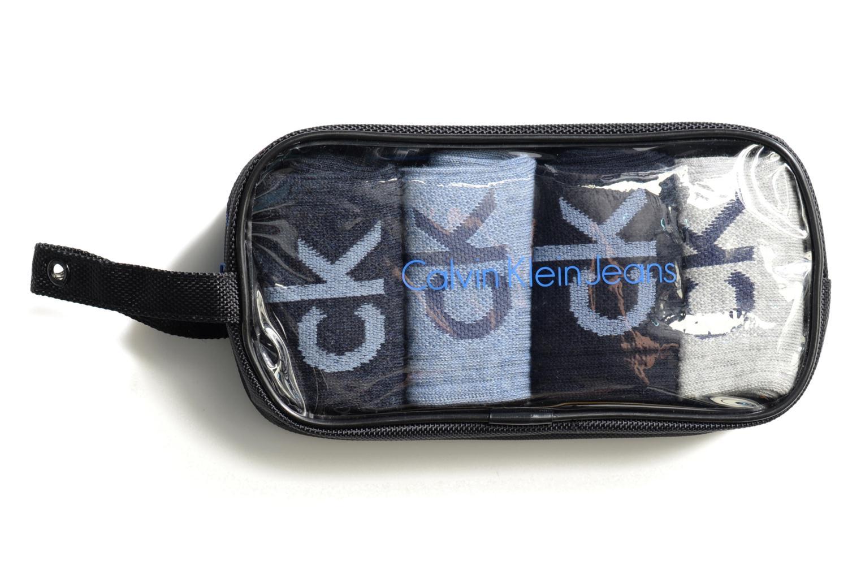Chaussettes et collants Calvin Klein Chaussettes CK Pack de 4 Noir vue détail/paire