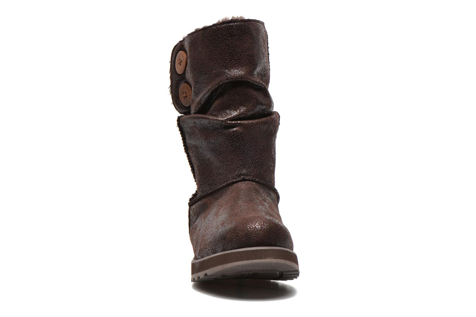 Ankle boots Skechers Keepsakes Leather-Esque 48367 Brown model view