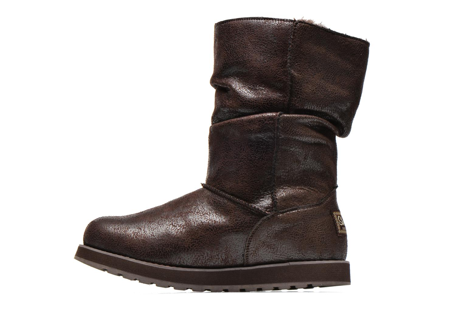Ankle boots Skechers Keepsakes Leather-Esque 48367 Brown front view