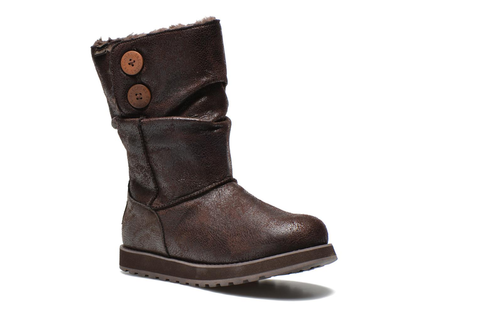 Ankle boots Skechers Keepsakes Leather-Esque 48367 Brown detailed view/ Pair view