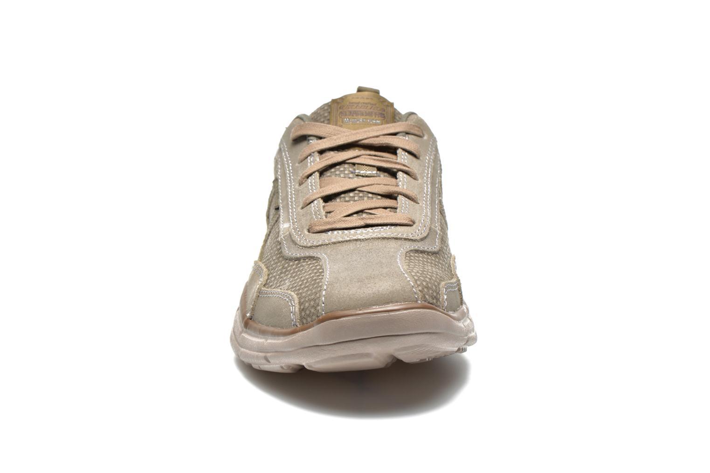 Baskets Skechers Glides Status 64501 Gris vue portées chaussures