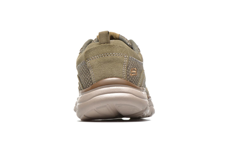 Baskets Skechers Glides Status 64501 Gris vue droite
