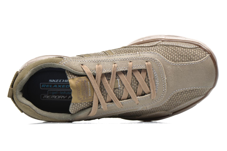 Baskets Skechers Glides Status 64501 Gris vue gauche