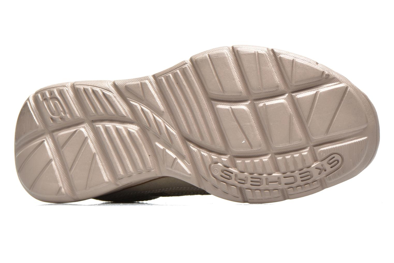 Baskets Skechers Glides Status 64501 Gris vue haut