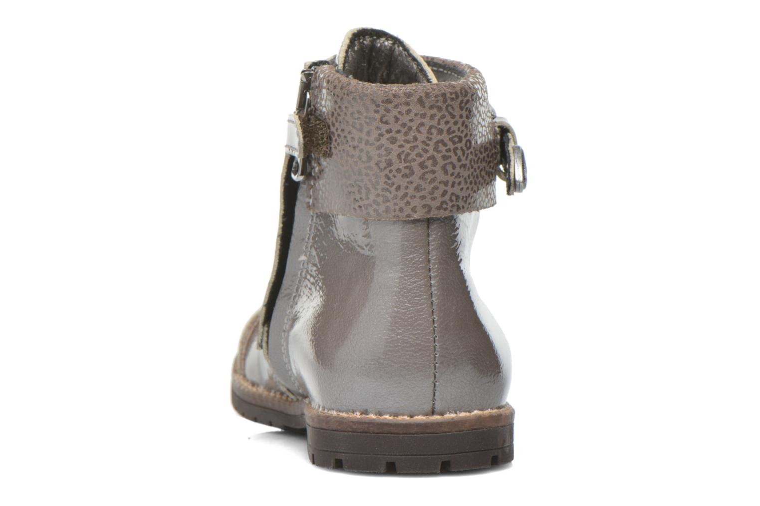 Botines  Little Mary Tresor Gris vista lateral derecha